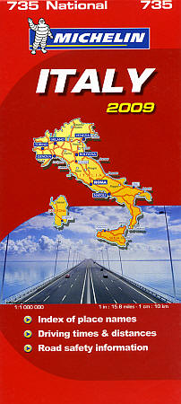 Italy Road and Tourist Map.