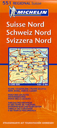 Switzerland, North Section, Road and Tourist Map.