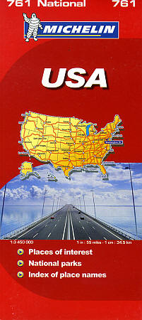 United States Road and Tourist Map.