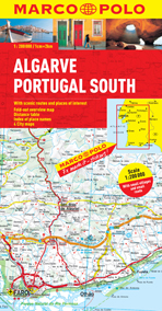 Algarve, Portugal South  Road and Tourist Map.  Marco Polo edition.
