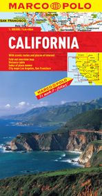 California Road and Tourist Map. Marco Polo edition.