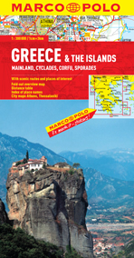 Greece & The Islands Road and Tourist Map. Marco Polo edition.