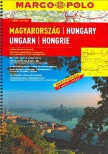 Hungary Road and Shaded Relief Tourist ATLAS.