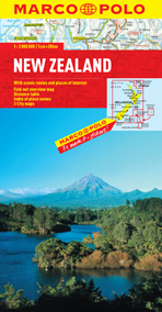 New Zealand Road and Tourist Map. Marco Polo edition.