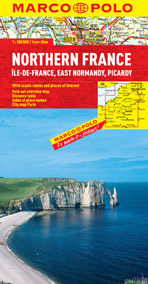 France Northern Road and Tourist Map. Marco Polo edition.
