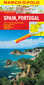 Spain and Portugal Road and Tourist Map. Marco Polo edition.
