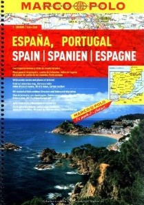 Spain and Portugal, Tourist Road ATLAS. Marco Polo edition.