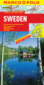 Sweden Road and Tourist Map. Marco Polo edition.