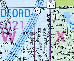 "DALLAS and FT Worth ""Metroplex"" Street ATLAS, Texas, America."