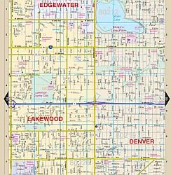 """DENVER """"Regional"""" Street ATLAS, Colorado, America."""