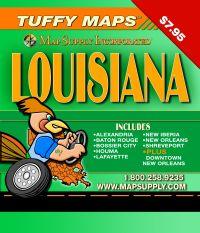 Louisiana Tuffy Map, America.