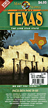 Texas Road and Tourist Map, America.