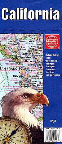 California Deluxe, Road and Tourist map.