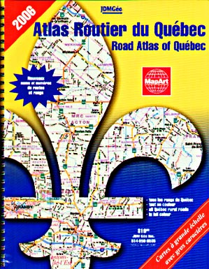 MapArt Quebec Province Road Atlas, Canada. Travel, Tourist, Detailed.