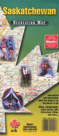 "Saskatchewan Province ""Recreation"" Road and Tourist Map, Canada."
