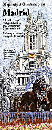 MADRID Illustrated Pictorial Guide Map, Spain.