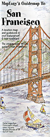 SAN FRANCISCO Illustrated Pictorial Guide Map, California, America.