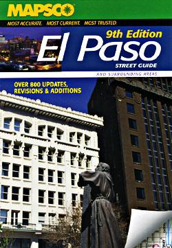 El Paso Street ATLAS, Texas, America.