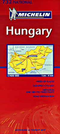 Hungary Road and Tourist Map.