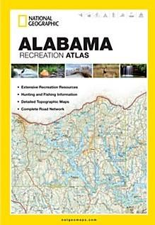 Alabama Recreation Road and Tourist ATLAS, America.