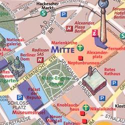 "BERLIN ""Destination"" Map Germany."