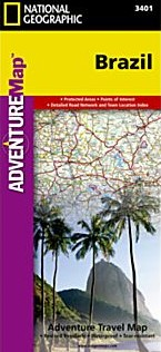 Brazil Adventure Road and Tourist Map.