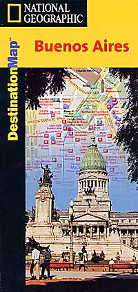 "BUENOS AIRES ""Destination"" Map, Argentina."