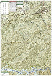 Cades Cove / Elkmont, Great Smoky National Park, Road and Topographic Map.