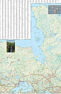 Canada Central Adventure Road and Tourist Map.