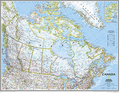 """Canada """"Classic"""" WALL Map."""