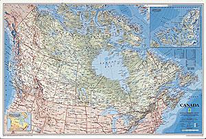 Canada Political WALL Map.
