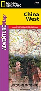 China West Adventure, Road and Tourist Map.