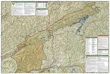 Clinch Ranger District Recreation Map, Kentucky, America.