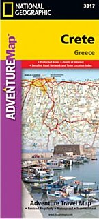 Crete Adventure Road Map, Greece.