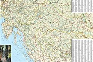 Croatia Adventure Road and Tourist Map.