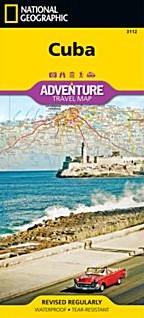 Cuba Adventure Road and Tourist Map.