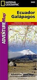 Ecuador and Galapagos Adventure Road and Tourist Map.