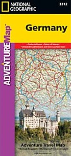 Germany Adventure, Road and Tourist Map.