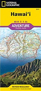 Hawaii Adventure Road and Recreation Map.