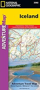 Iceland Adventure Road and Tourist Map.