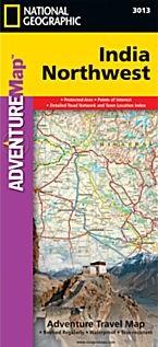 India Northwest Adventure Road and Tourist Map.