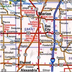 Indiana Guide Map.