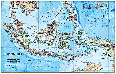 Indonesia Political WALL Map.