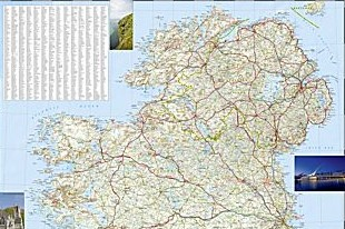 Ireland Adventure Road and Tourist Map.