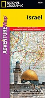 Israel Adventure Road and Tourist Map.