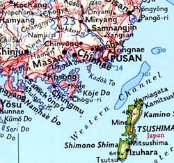 Japan and Korea Political WALL Map.