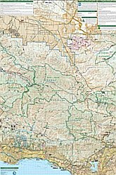 Los Padres National Forest, East Road and Recreation Map, california, America.