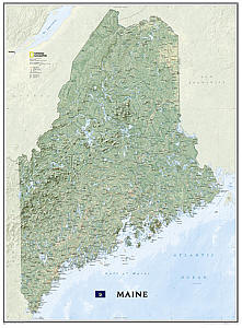 Maine WALL Map.