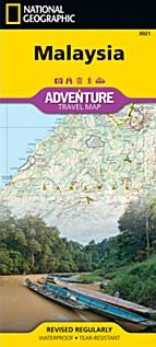 Malaysia Adventure Road and Tourist Map.