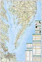 Maryland, Delaware, and Virginia Recreation Map, America.